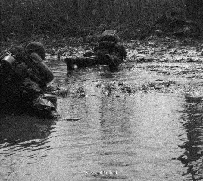 ハンバーガー・ヒル↑攻撃開始4日目。沼地をほふく前進で進撃する第101空挺師団の兵士たち。1969年5月13日。.jpg